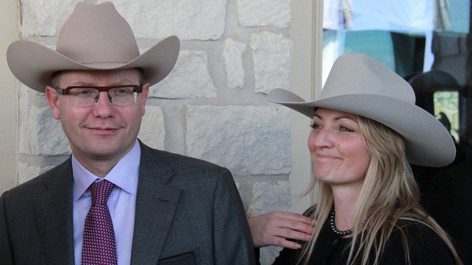 Bohuslav Sobotka se svou ženou Olgou během návštěvy USA