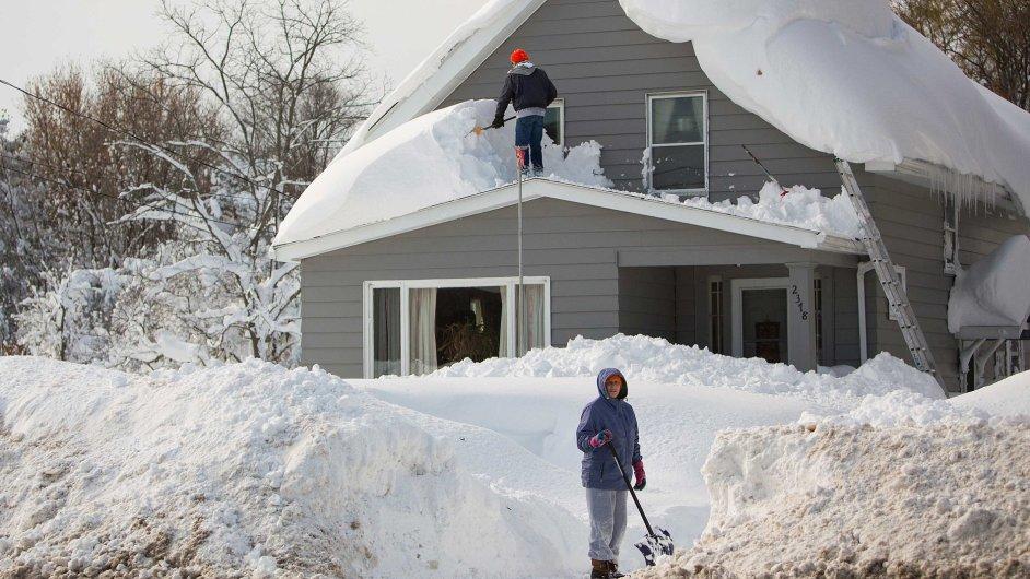 Takto zasáhla sněhová bouře Buffalo na podzim 2014. Ilustrační foto