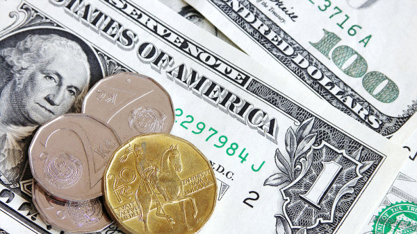 Kurz dolaru vůči euru ovlivňuje i korunu, dolar vůči ní posiluje. Ilustrační foto