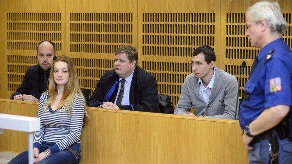 Petra Brožová u soudu v lednu