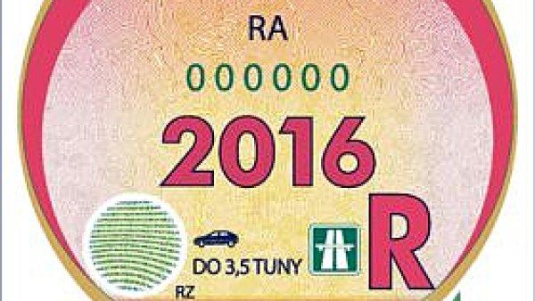 Dálniční známka 2016