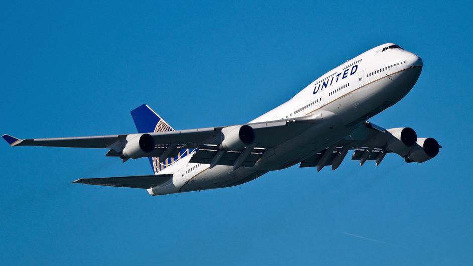 Boeing 747 společnosti United Airlines