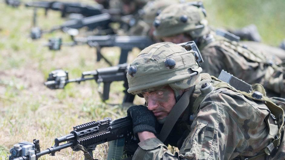 Nebývalé manévry. Největší cvičení NATO vEvropě odkonce studené války se konalo v červnu vPolsku aPobaltí. Manévrů Anakonda 2016 se zúčastnilo 35 tisíc vojáků.