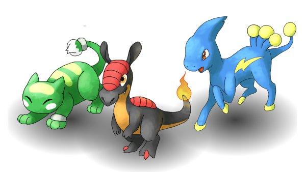 Základní pokémoni z fanouškovské hry Pokémon Uranium.