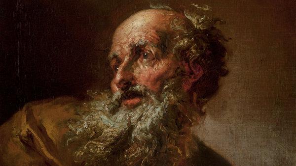 Na snímku je plátno Petra Brandla nazvané Simeon s Ježíškem zhruba z doby po roce 1725.