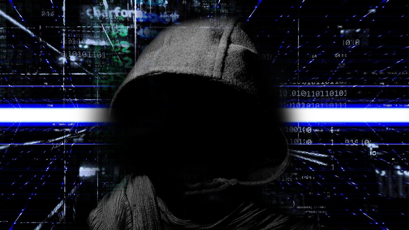 Malware, ransomware, ilustrace