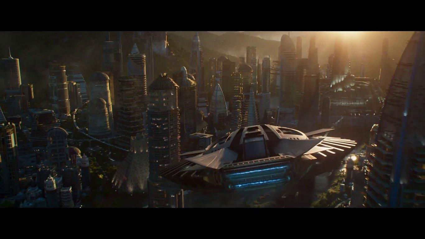 Snímek z filmu Black Panther.