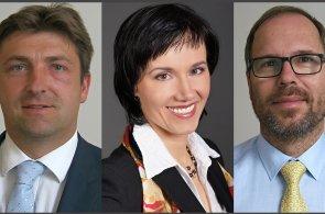 Tomáš Hadžega, Marie Mourková a Jan Karásek, manažeři na vedoucích pozicích Expobank CZ