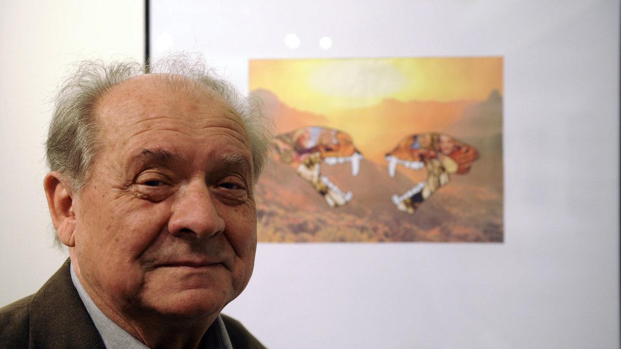 Básník a kolážista Ivo Vodseďálek zahájil 8. srpna v Praze výstavu
