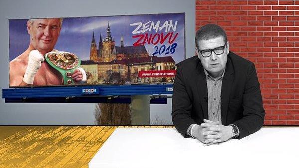 Pořad Šťastné pondělí Jindřicha Šídla z 8. ledna 2018, ve kterém zazněl vtip o automatickém postupu Miloše Zemana do druhého kola prezidentských voleb