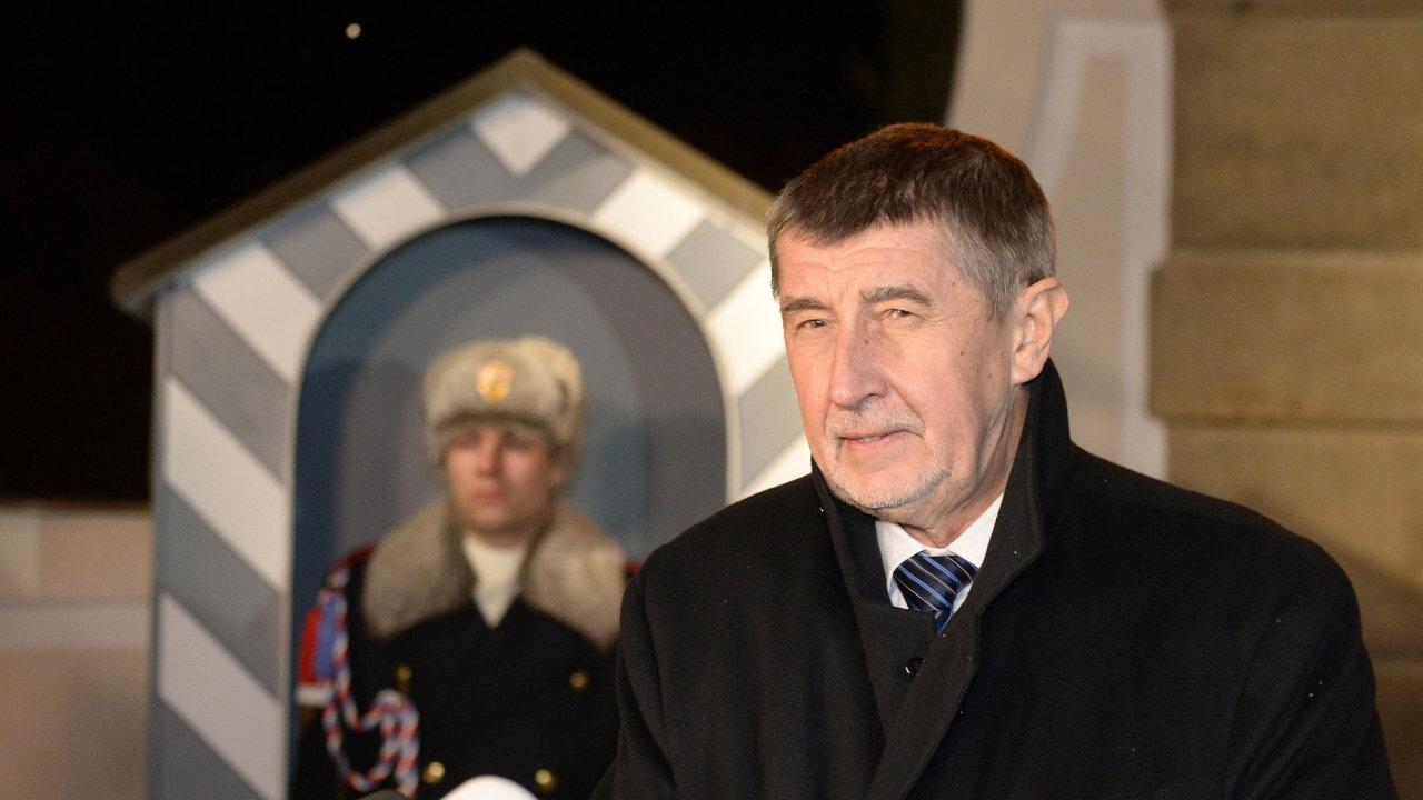 Premiér v demisi Andrej Babiš (ANO).