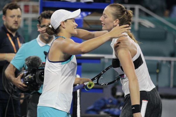 Petra Kvitová vypadla na čtvrtfinále v Miami.