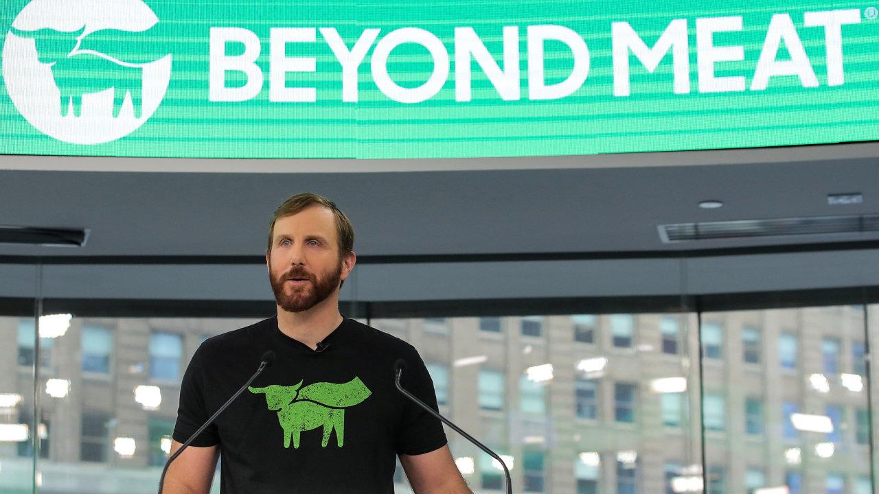 Ethan Brown - zakladatel a výkonný ředitel firmy Beyond Meat.