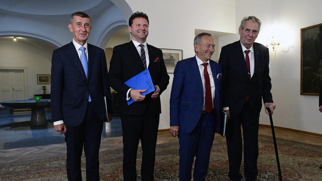 Zeman, Babiš, Vondráček a Kubera