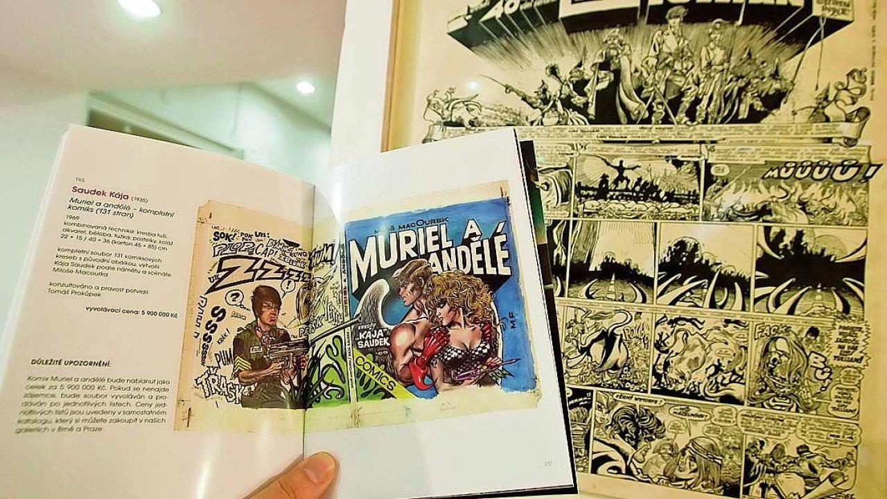 V únoru policie zabavila jak originál komiksu, tak katalog s přetiskem.
