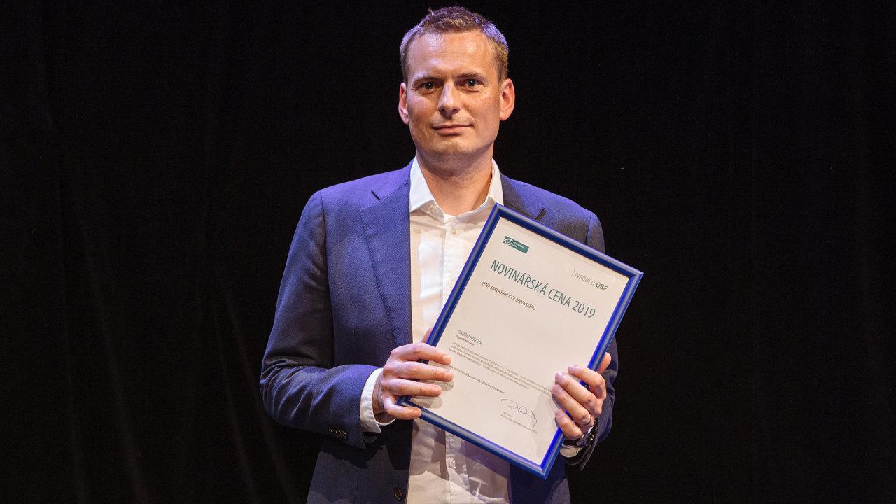 Prestižní cenu Karla Havlíčka Borovského získal redaktor HN Ondřej Houska.