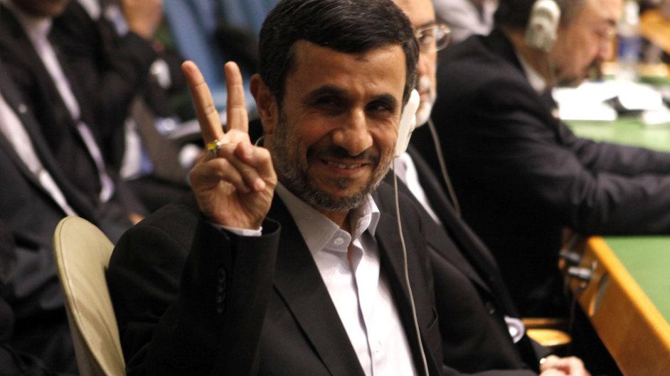 Mahmúd Ahmadínežád na Valném shromáždění OSN