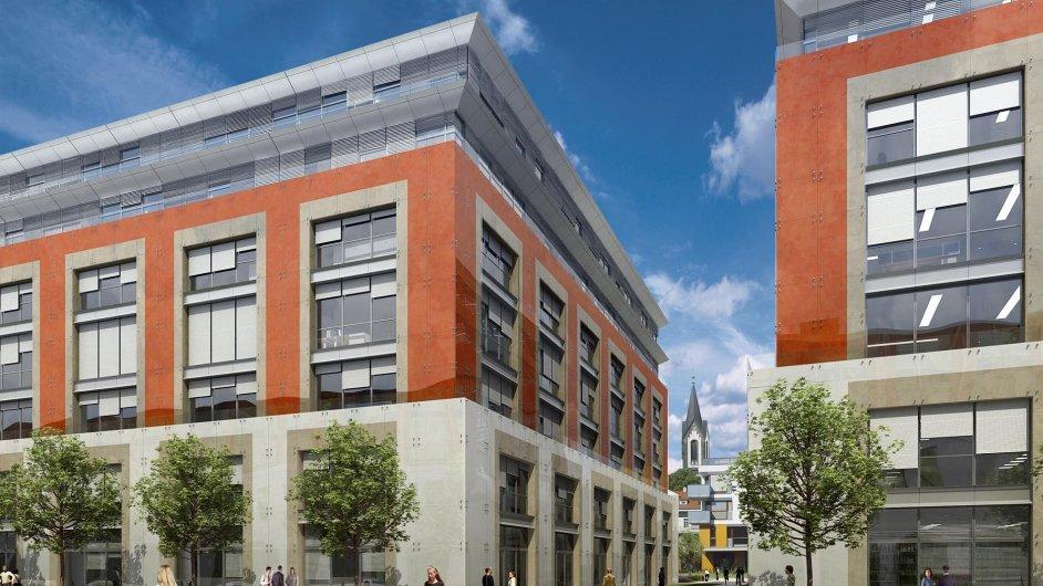 Další kancelářskou budovu v projektu Corso II v Praze-Karlíně zrealizuje skupina Skanska