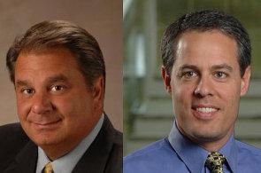 Michael Valentin, viceprezident pro oblast celosvětových prodejních aktiv a Ari Buchler, hlavní firemní právník a viceprezident pro rozvoj, společnost Sophos