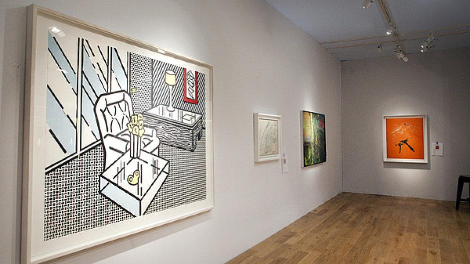 Na veletrhu TEFAF se prodává i koláž Roye Lichtensteina zvaná The Den.