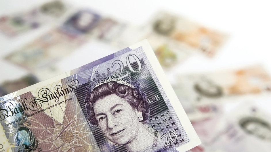 Ochranné prvky na britských librách. Ilustrační foto.