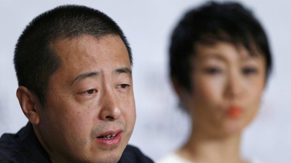 Režisér Zhang Ke Jia na festivalu v Cannes.