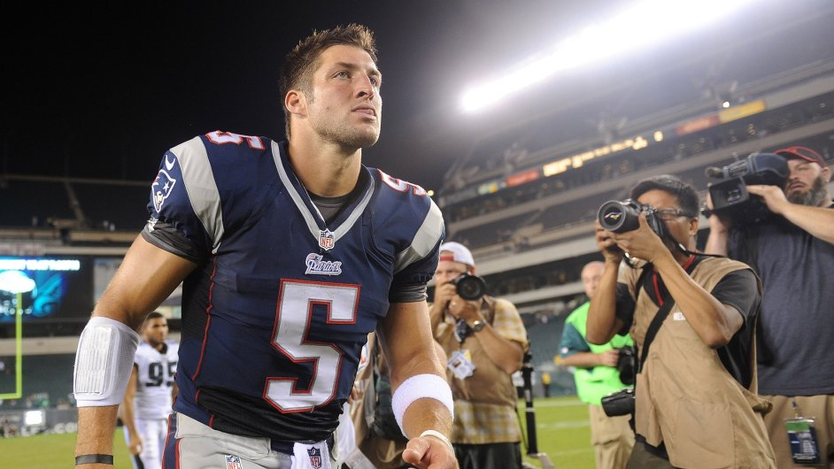 Tim Tebow v dresu New England Patriots