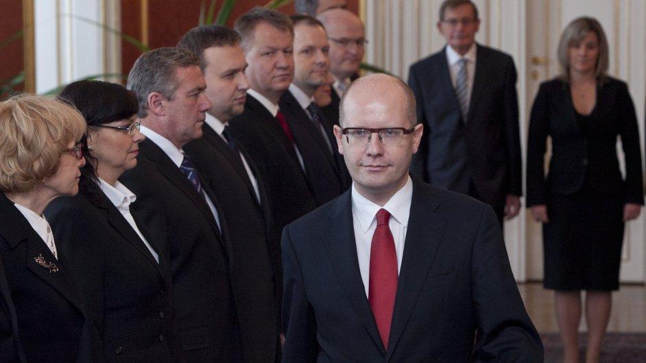 Premiér Sobotka a jeho vláda
