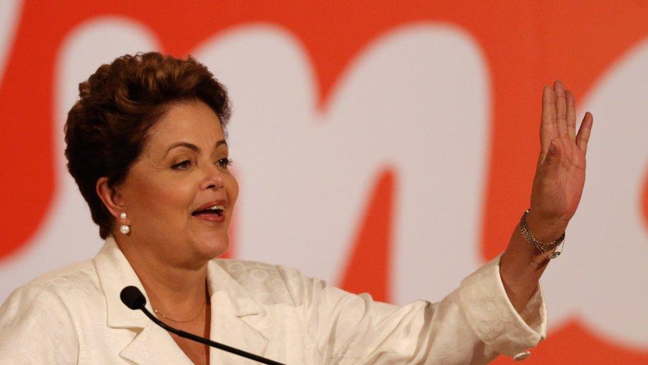 V čele Brazílie stojí prezidentka Dilma Rousseffová.