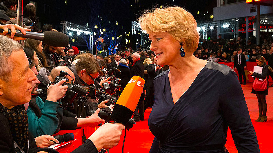 Německá ministryně kultury Monika Grüttersová na filmovém festivalu Berlinale.