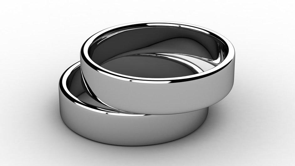 Platinové prsteny