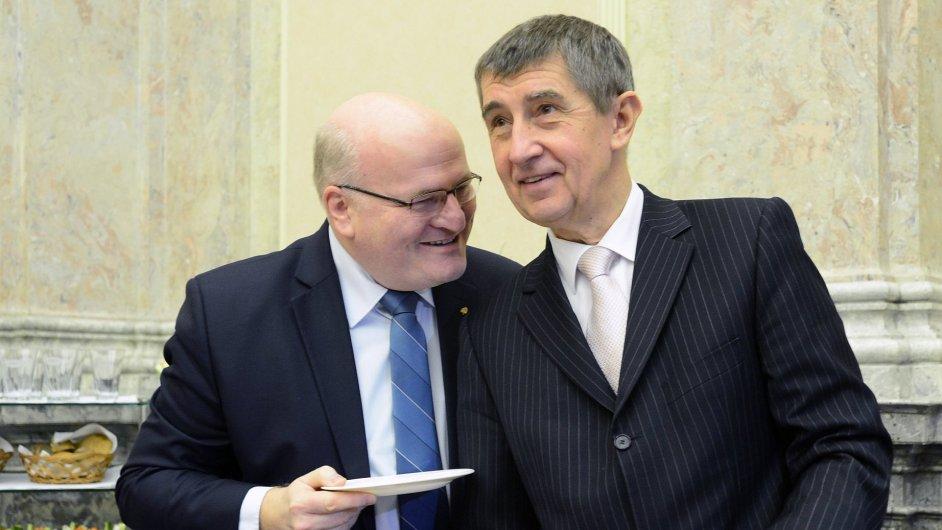 Ministr kultury Daniel Herman a ministr financí Andrej Babiš