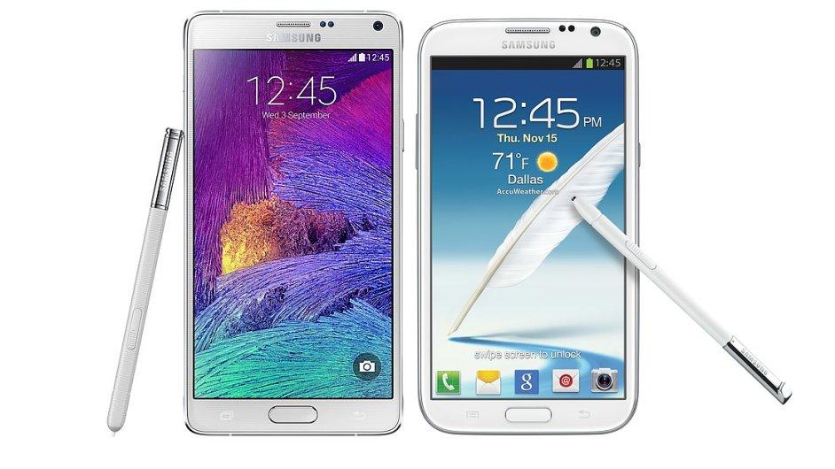 Samsung Galaxy Note 4 a Note 2