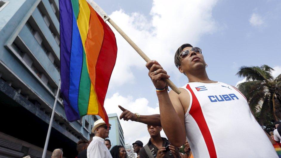 V Havaně manifestovali gayové a lesby.