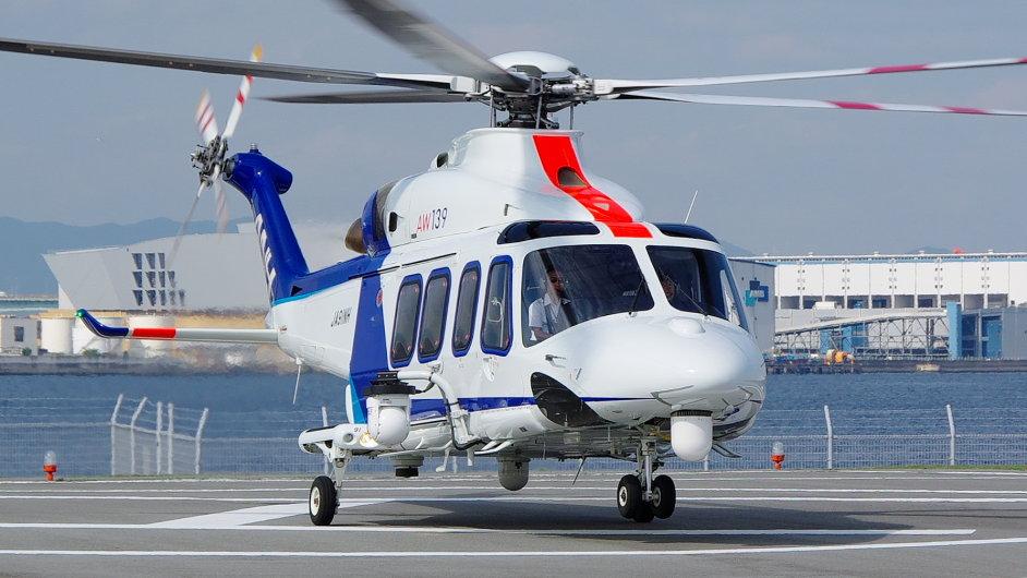 Vrtulník AW139 - Ilustrační foto.
