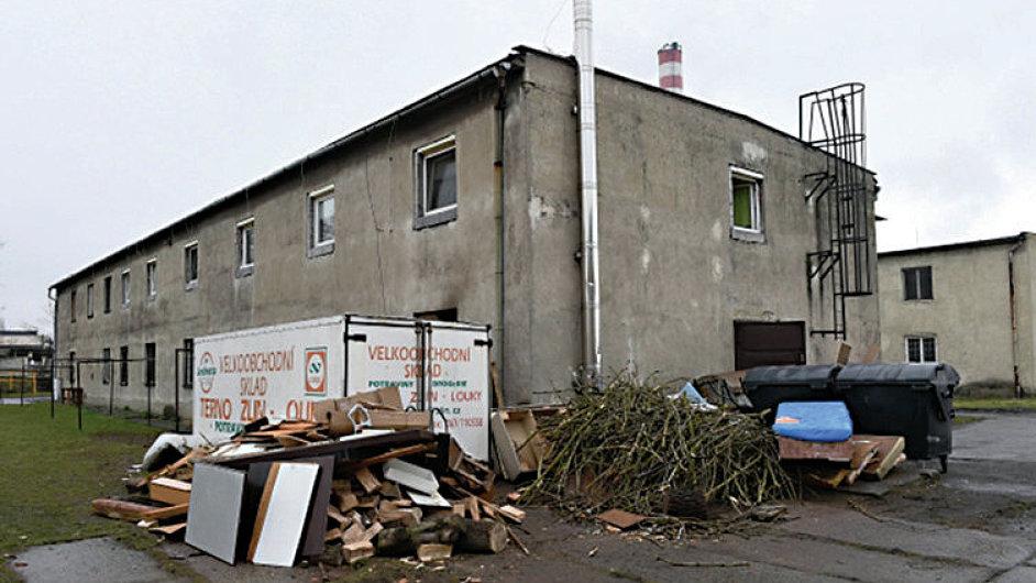 Zanedbaná ubytovna v Dluhonské ulici v Přerově