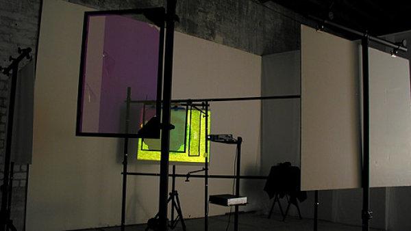 Snímek z instalace Light Revisited - Noisefields umělce Woodyho Vašulky.