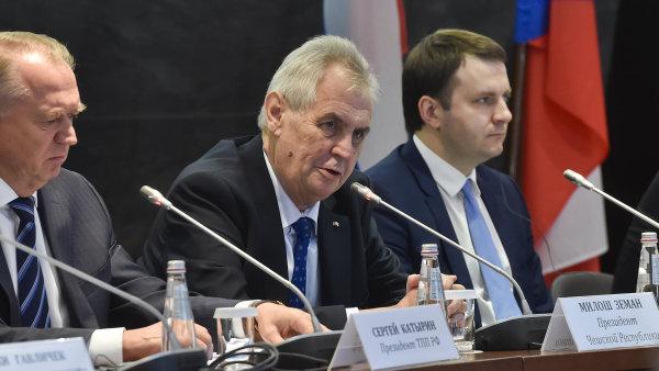 Prezident ČR Miloš Zeman vystoupil 22. listopadu v Moskvě na česko-ruském podnikatelském fóru.