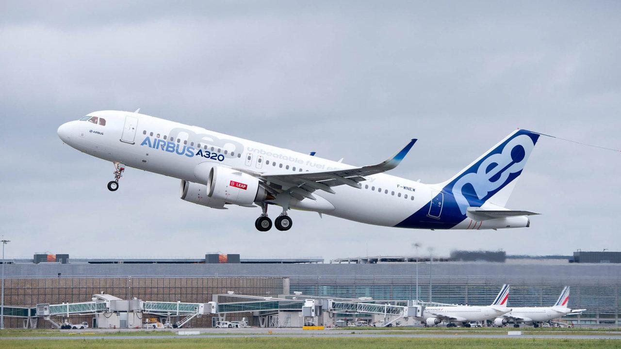 Klíčový Airbus: Zákazníci evropského koncernu nejvíce poptávají stroj A320 neo. Loni se jich objednali 553, což bylo 53 procent všech objednávek.