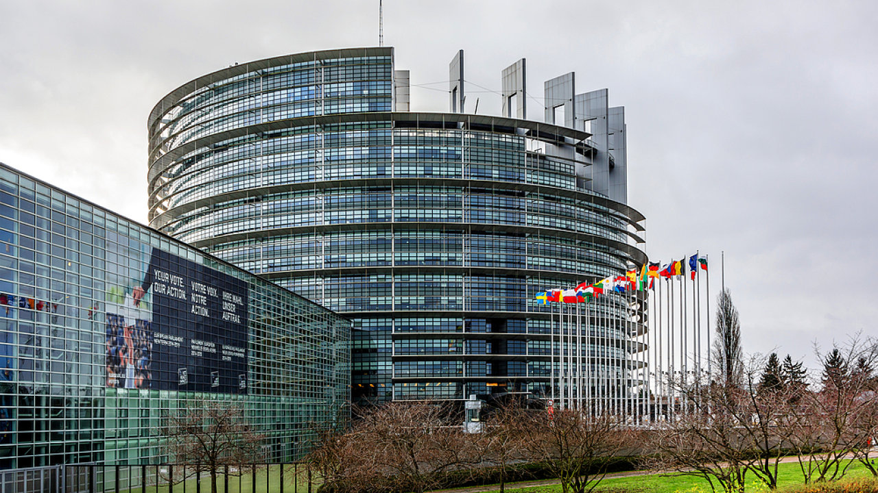 Sídlo Evropského parlamentu ve Štrasburku.