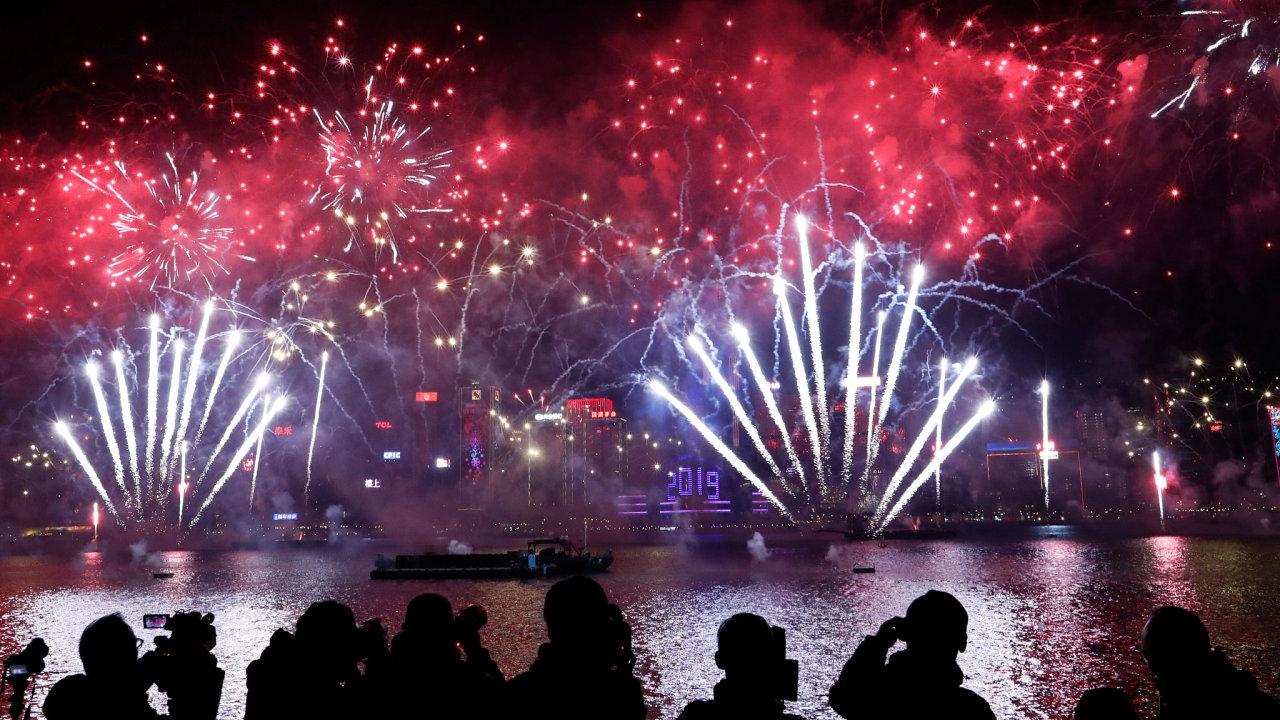 Oslavy nového roku 2019 Hong Kong