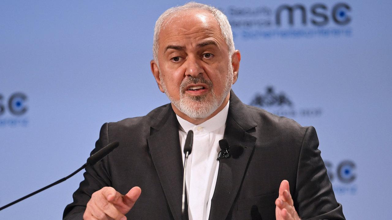 Íránský ministr zahraničí Mohammad Džavád Zaríf na Mnichovské bezpečnostní konferenci.