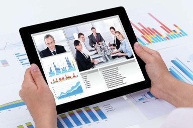 Videokonference - ilustrační foto