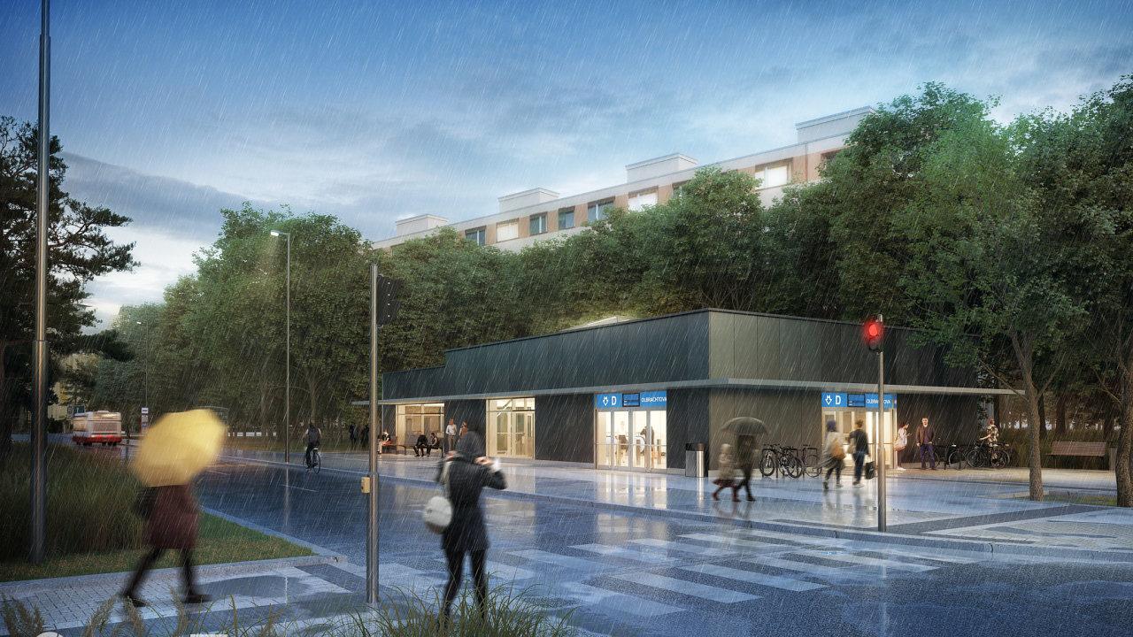 Vizualizace metra D. Dlouho slibovaná čtvrtá linka pražského metra by teď prý už opravdu měla vzniknout do osmi let.