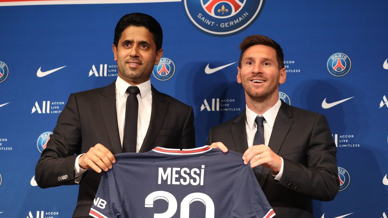 Lionel Messi a Násir Al Chelajfí
