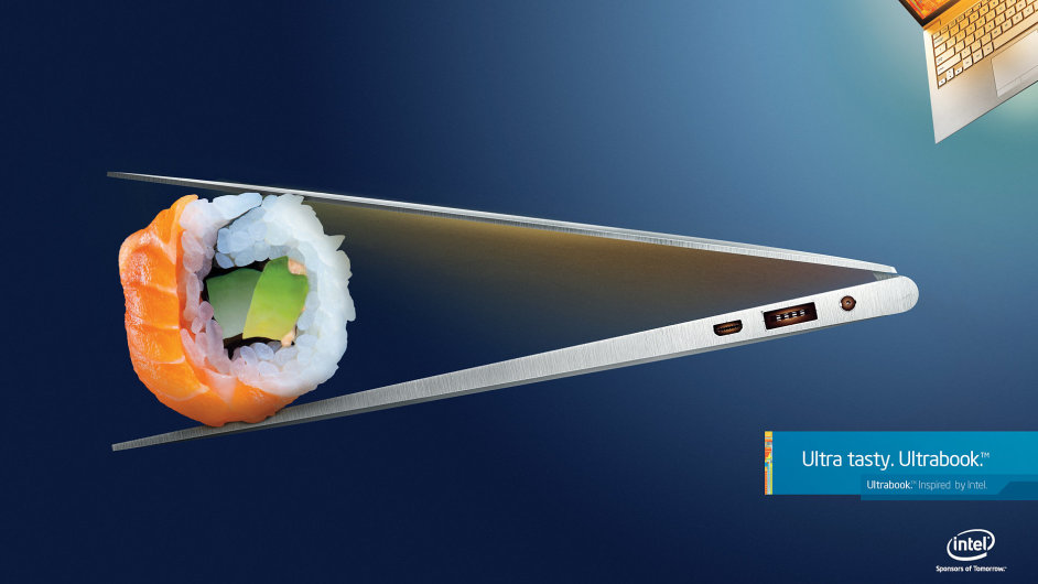 Intel zdůrazňuje design ultrabooků s využitím netradičních propriet