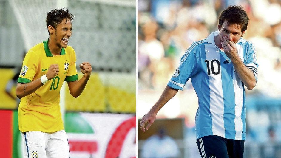 Zatímco v dresu od Adidasu hraje Messi, Nike oblékne domácí brazilce v čele s Neymarem