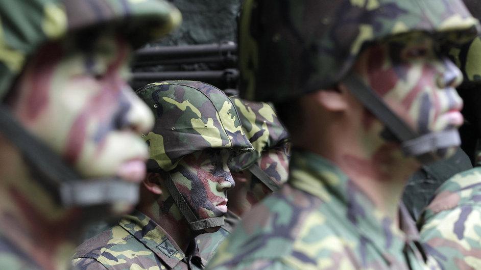 Cvičení tchajwanské armády