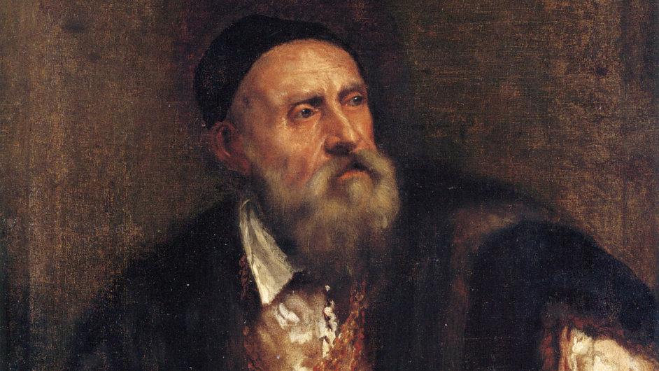 Malíř Tizian zemřel roku 1576, tento autoportrét je nejspíš z roku 1562.
