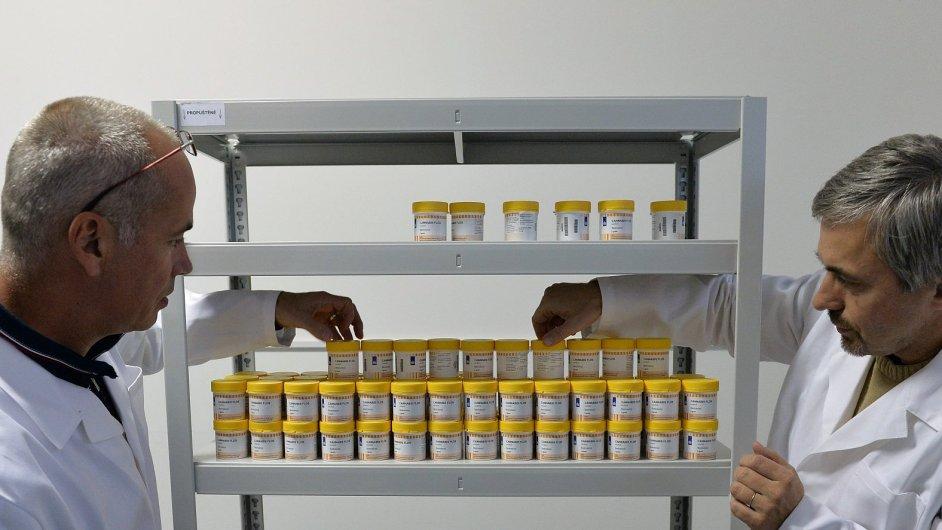 První kilogram léčebného konopí z Nizozemska dovezli do ČR Tomáš Kubálek (vlevo) a Richard Chalupník (vpravo) ze společnosti Czech Medical Herbs.